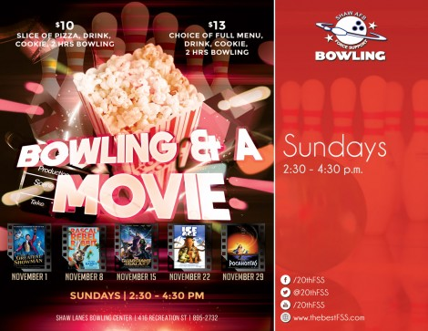 Bowling and a Movie Matinee - Pocahontas