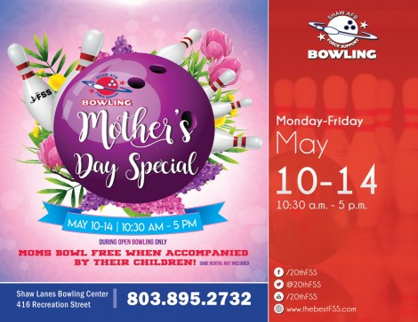 Mother's Day Special at Shaw Lanes