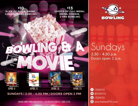 Bowling and a Movie - Secret Life of Pets