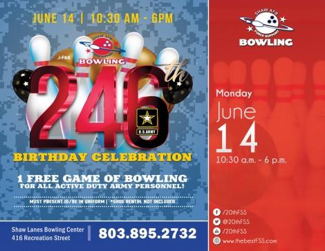 Army Birthday Bowling