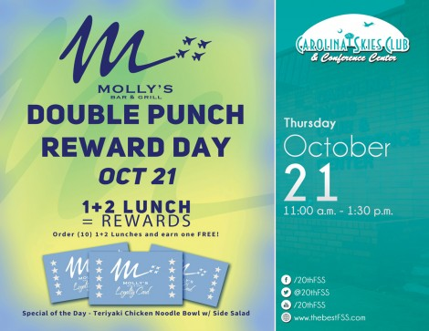 Molly's Double Punch Day October