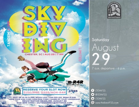 Tandem Skydiving - Take the Dive August 29th!