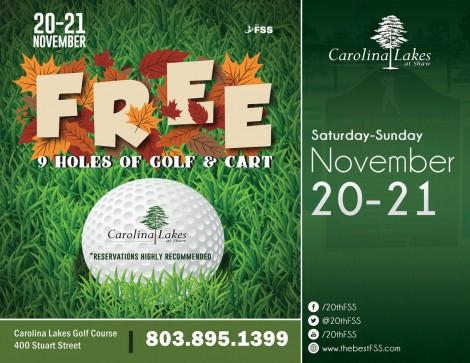 FREE Golf Thanksgiving Weekend