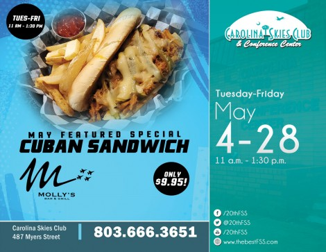 Molly's Featured Sandwich Special for May