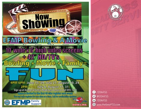 EFMP Bowling and a Movie Night