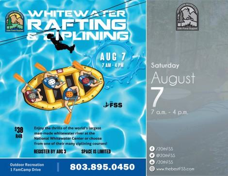 Whitewater Rafting & Zip Lining