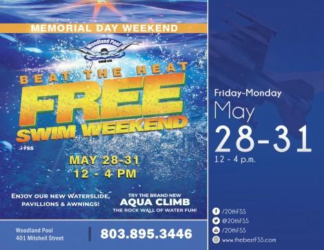 Beat the Heat Woodland Pool FREE opening weekend!
