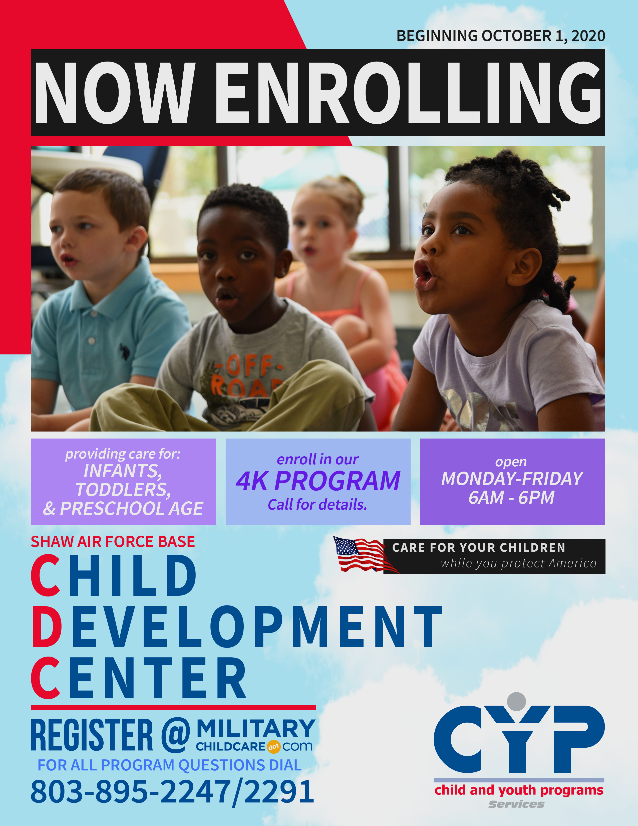 Now Enrolling at Shaw Child Development Center